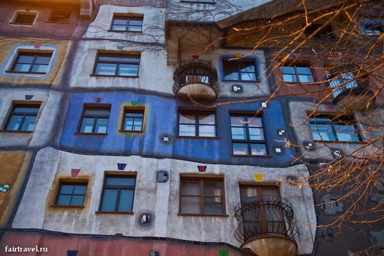 Дом Хундертвассера в Вене. Австрия